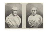 Busts of George and Robert Stephenson Giclee Print