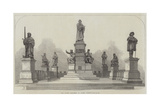 The Luther Monument at Worms, Germany Giclée-tryk