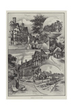 Glimpses of English Villages Giclee Print