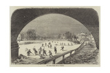The Thames Frozen over at Richmond Giclee Print