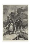 Visitors to the Falls of Niagara Giclee Print