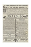 Advertisement, Pears' Soap Giclee Print