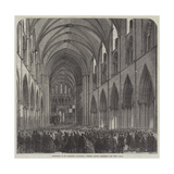 Reopening of St Patrick's Cathedral, Dublin, Lately Restored Giclee Print