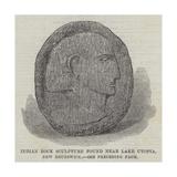 Indian Rock Sculpture Found Near Lake Utopia, New Brunswick Giclee Print
