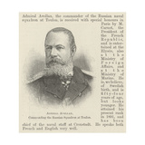 Admiral Avellan, Commanding the Russian Squadron at Toulon Giclee Print