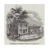 Residence of General Pierce, at Concord, US Giclee Print
