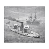 The Miantonoma, Twin- Turret Armoured Monitor Launched 1863 Giclee Print