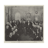 The Bishop of Lincoln Admitted to the Order of Oddfellows Giclee Print