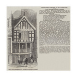 God's Providence House, Watergate-Street, Chester Giclee Print