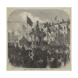 Opening of the Dudley Fountain in the Market-Place, Dudley Giclee Print