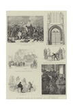 The Emperor William's Visit to Wittenberg, the Luther Celebration Giclee Print