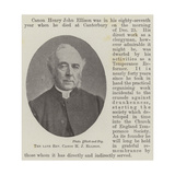 The Late Reverend Canon H J Ellison Giclee Print