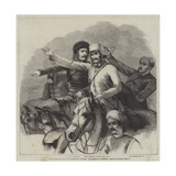 Group from Barker's Grand Historical Pictures, The Relief of Lucknow Giclee Print