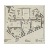 Plan of Bethlem Hospital, Wards, and Gardens Giclee Print