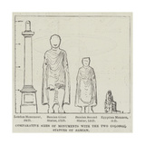 Comparative Sizes of Monuments with the Two Colossal Statues of Bamian Giclee Print
