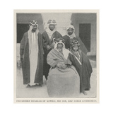 The Sheikh Mubarak of Koweit, His Son, and Three Attendants Giclee Print