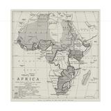 Treaty Map of Africa Giclée-Druck