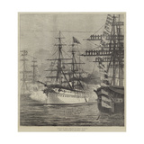 Arrival of HMS Serapis in Bombay Harbour Giclee Print
