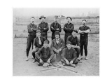 Baseball Team of Railroad Workers in 1889 Giclee Print