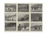 Skating in London Giclee Print