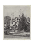 Residence of Mrs Beecher Stowe at Hartford, Connecticut Giclee Print