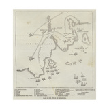 Plan of the Attack on Bomarsund Giclee Print