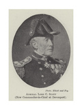 Admiral Lord C Scott, New Commander-In-Chief at Devonport Giclee Print