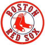 Boston Red Sox Lasercut Steel Logo Sign Wall Sign