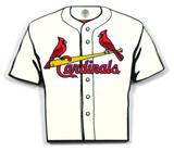 St. Louis Cardinals Home Jersey Steel Magnet Magnet