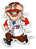 Washington Nationals Running President Roosevelt Steel Magnet Magnet