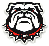 Georgia Bulldog Head Steel Magnet Magnet