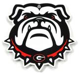 Georgia Bulldog Head Steel Magnet Magnet