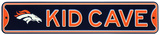 Denver Broncos Steel Kid Cave Sign Wall Sign