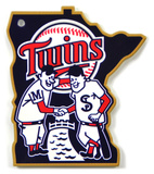 Minnesota Twins Minnie & Paul Steel Magnet Magnet