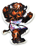 Oklahoma City Thunder Rumble Mascot Steel Magnet Magnet