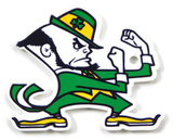 Notre Dame Fighting Irish Leprechaun Steel Magnet Magnet
