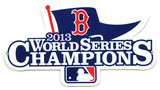 Boston Red Sox 2013 World Series Champions Steel Logo Sign Wall Sign