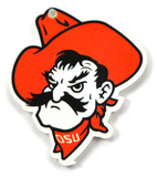 Oklahoma State Cowboys Pistol Pete Steel Magnet Magnet