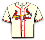 St. Louis Cardinals Alternate Home Jersey Steel Magnet Magnet