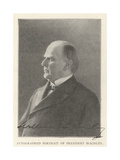 Autographed Portrait of President Mckinley Giclee Print