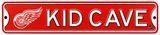 Detroit Red Wings Steel Kid Cave Sign Wall Sign