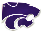 Kansas State Wildcats Powercat Steel Magnet Magnet