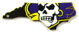 East Carolina Pirates State Logo Steel Magnet Magnet