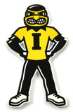 Iowa Hawkeyes Herkey Steel Magnet Magnet