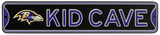 Baltimore Ravens Steel Kid Cave Sign Wall Sign