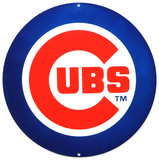 Chicago Cubs Lasercut Steel Logo Sign Wall Sign