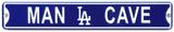 Man Cave Los Angeles Dodgers Steel Magnet Magnet