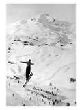 Skier large Jump Giclee Print by  Underwood