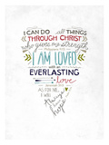 I can do all things thru Christ Giclee Print by Emily Burger