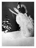 Skieurs Impression giclée par  Underwood